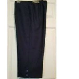 24W Alfred Dunner Capris Cropped Pants Navy Blue